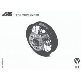 Supermoto platišče YCF Bigy zadnje 3.00x14